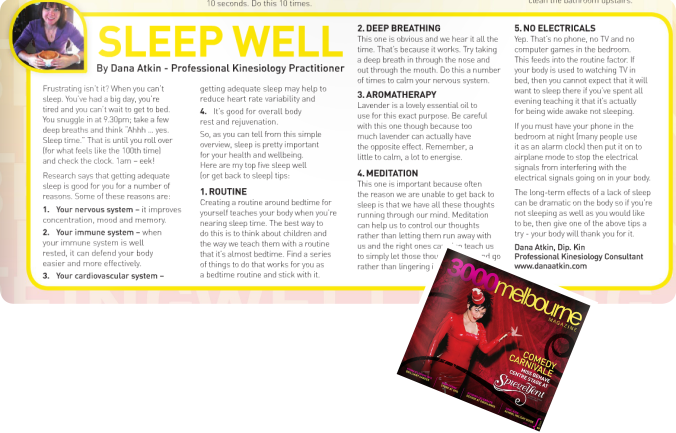 3000MelbMag Sleep Well Dana Atkin April 2014